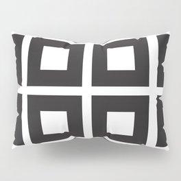 Nested Squares Black & White Pillow Sham