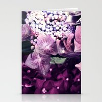 hydrangea Stationery Cards featuring Hydrangea  by Truly Juel