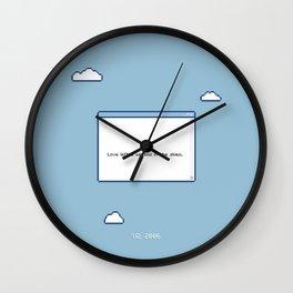 Window in the Skies Wall Clock