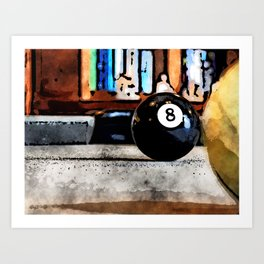 Shooting For The Eight Ball Art Print