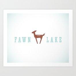 FAWN LAKE Art Print