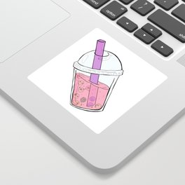 Boba Tea Pugs Sticker