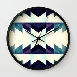 Dashing in Blue Wall Clock