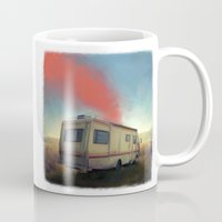 breaking Mugs featuring breaking bad by robotrake