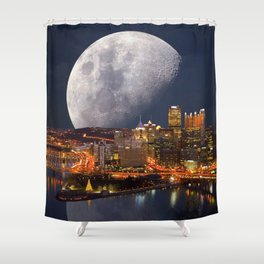 Spacey Pittsburgh Shower Curtain