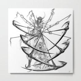 Nnoitora and Neliel - Bleach Metal Print