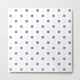 Menorah 20 Metal Print