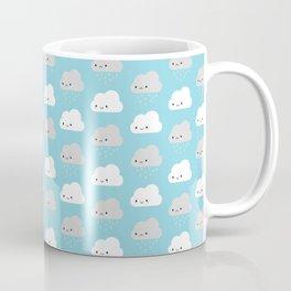 Happy and Sad Kawaii Clouds Coffee Mug