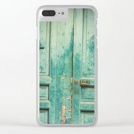 Green Door Clear iPhone Case
