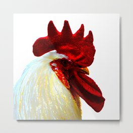 old cock, painterly Metal Print