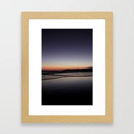 7:06 pm Framed Art Print