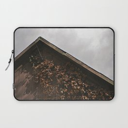Camouflage - Red Leaves on Barn Laptop Sleeve