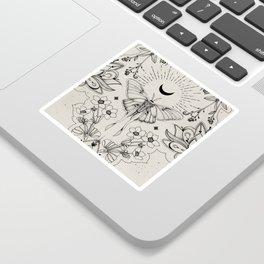 Bohemian Luna Moth Sticker