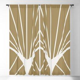 Diamond Series Round Sun Burst White on Gold Blackout Curtain