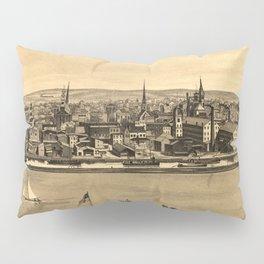 Vintage Pictorial Map of New Brunswick NJ (1880) Pillow Sham