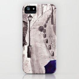 Raining in Paris  iPhone Case