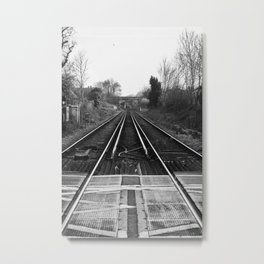 railway point of view Metal Print