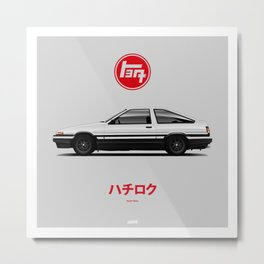 Toyota AE-86 Metal Print