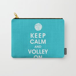 Keep Calm and Volley On (For the Love of Volley Ball) Carry-All Pouch