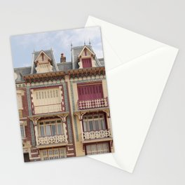 Colourful houses I Le Tréport, Picardy, France I Vintage pastel tones I Photography Stationery Cards