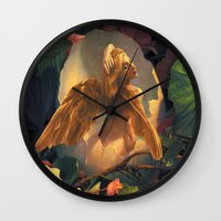 egg Wall Clocks featuring Egg by Scott Grimando