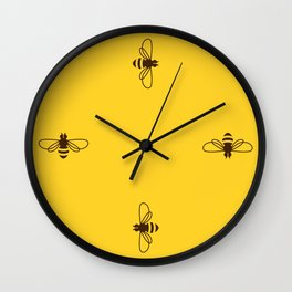 Be safe - save bees Wall Clock