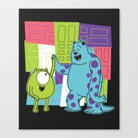monster inc Canvas Prints featuring Monster Time by Moysche Designs