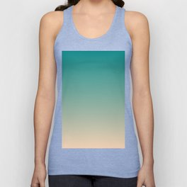 Teal and Angelskin Coral Tropical Paradise Island Hawaiian Beach Unisex Tank Top