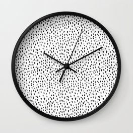 Black and White Spots Wall Clock