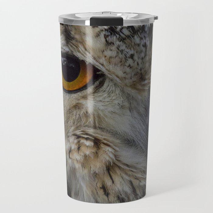 Eurasian eagle-owl, wild bird Travel Mug