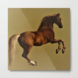 Classical Masterpiece Circa 1762 Racehorse Whistlejacket Rearing Up by George Stubbs Metal Print