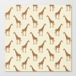 Giraffe animal minimal modern pattern basic home dorm decor nursery safari patterns Canvas Print