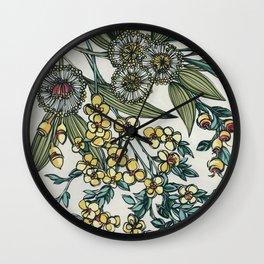 Australian Native Floral Wall Clock