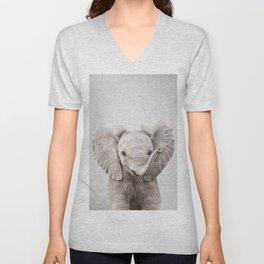 Baby Elephant - Colorful Unisex V-Neck