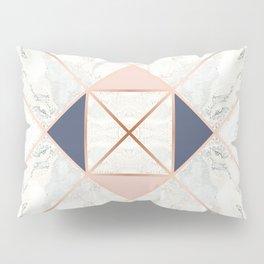 Copper & Marble & Pastel 02 Pillow Sham