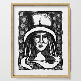 hat lady Serving Tray
