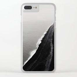 Black Sand Beach, Iceland Clear iPhone Case