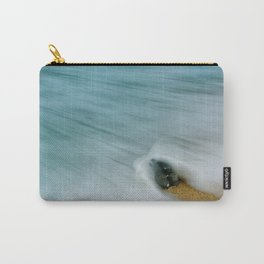 Whelk Seashell and Misty Wave Nature / Coastal Photograph Carry-All Pouch