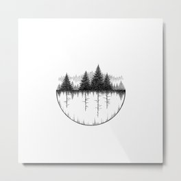 The Upside Down Metal Print