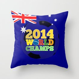 2014 World Champs Ball - Australia Throw Pillow