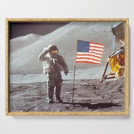 American Moon Landing Serving Tray