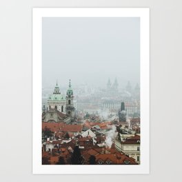 Cold Mornings over Prague Art Print