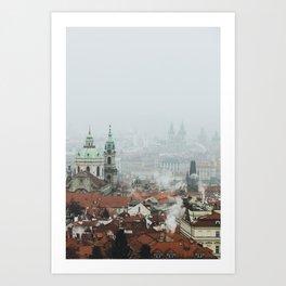 Cold Mornings over Prague Art Print