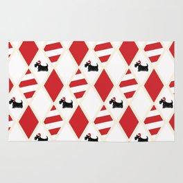 Scottie Dog Christmas Pattern Rug