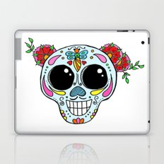 Sugar skull with flowers and bee Laptop & iPad Skin