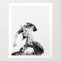 the creature and the cave Art Print