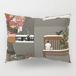 Lily carries Christmas Presents to a Party Pillow Sham
