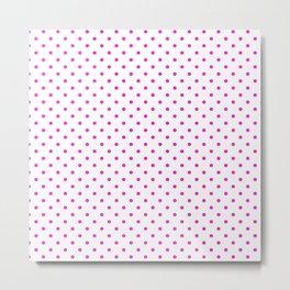 Dots (Hot Magenta/White) Metal Print