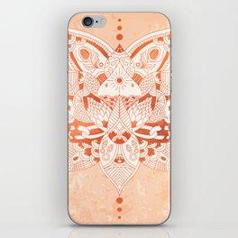 Happiness Mandala Metallic Rose Gold Beige iPhone Skin