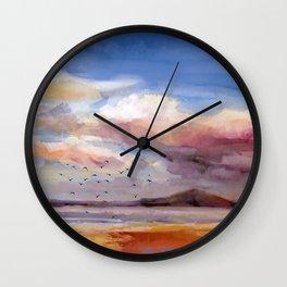 Il mare d'inverno Wall Clock